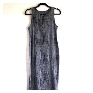 Black and Gray Snake Skin Print Tank Top Dress